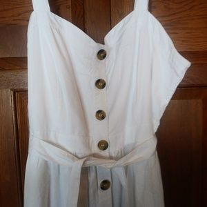 White overall dress Size 12